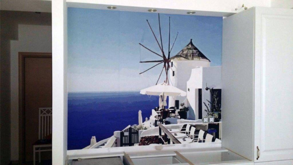 peisaje pentru camera de zi cu desene rustice moara de vant